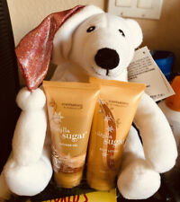 "New White Bear With Hat Shower Gel, Body Lotion 7"" Tall Vanilla Sugar"