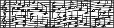 Cheery Lynn Designs Musical Staff Mesh Border B403