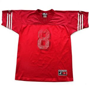 Vintage San Francisco Steve Young #8 Disressed Look Football Jersey Youth XL