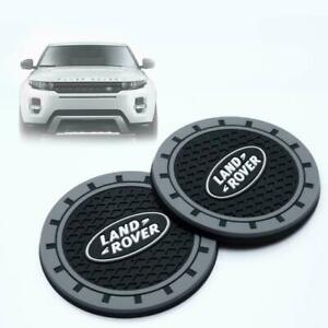 Fit Land Rover Silicone Car Logo Auto Cup Bottle Holder Pad Coaster Mat 2pcs