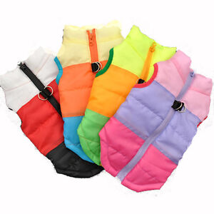 Cute Puppy Pet Small Dog Cat Winter Warm Coat Padded Vest Jacket Sizes S M L