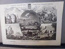 Gravure 19°noir et blanc:    BOUCHES-DU-RHONE...ANTIQUITES ROMAINES DE LA VILLE