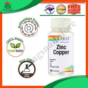 Solaray, Zinc Copper, 100 VegCaps