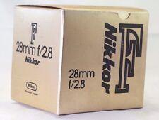 Empty Box for Nikon 28mm f2.8 Nikkor F AI lens vintage