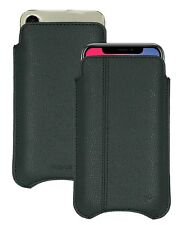 Apple iPhone X Black Faux Leather NueVue Screen Cleaning Pouch Sleeve