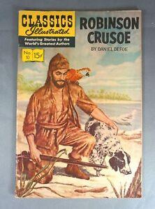 Classics Illustrated No.10 - Robinson Crusoe Nov 1944 - VF