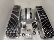 BB CHEVY POLISHED TALL BLACK  FIN VAL COVER /CENTER FIN BREATHER  KIT CR# X035