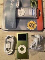 Apple iPod Nano 2nd Generation Green 4GB REFURBISHED BUNDLE