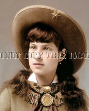 Repro 8X10 Photographic Reprint Sharp Shooter Annie Oakley >> Colorizied