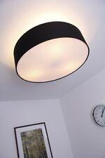 Plafonnier Dessin Rondelle Lustre Lampe suspension Spot plafond Tissu Noir 63057
