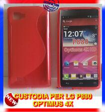 Pellicola+Custodia cover case WAVE ROSSA per LG Optimus 4X HD P880