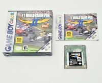 F1 World Grand PRIX II Nintendo Gameboy Color Box Manual Game