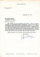 Caspar Weinberger Autographed 8x11 Letter