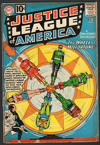 1961 DC Justice League of America #6 - The Wheel of Misfortune - Silver Age