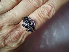Black Spinel ring, 0.64 carats, size P/Q, in 3.49 grams of 925 Sterling Silver