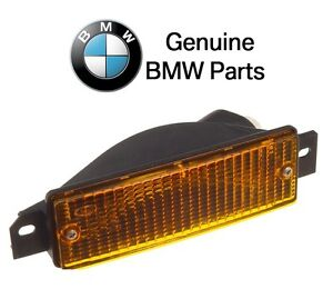 For BMW E30 3-Series Front Driver Left Turn Signal Light w/ Yellow Lens Genuine