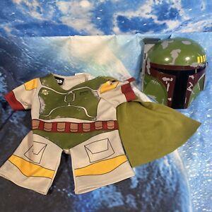 Build A Bear Boba Fett Star Wars Costume Outfit Mandalorian Jumper Mask Disney
