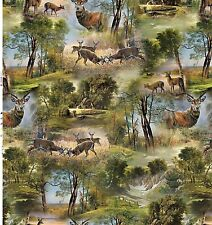 Tablecloth by the Metre Oilcloth Washable Forest F739-1