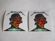 "METALLICA Hardwired To Self Destruct Stickers 4""X4"" 2016 Promo Only Set Of 2 NEW"