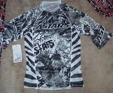 NEW ALPINESTARS 3/4 Gravity Jersey Shirt 2XS XXS Grey Gray White Black NEW NWT