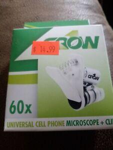 Universal Cell Phone Microscope + Clip Grow1 60x