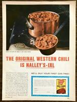 1965 Nalley's IXL Original Western Chili con Carne with Beans PRINT AD