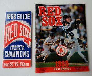 Vtg 1968 Boston Red Sox Baseball Press Media Guide 1988 Scorebook Magazine 1st E