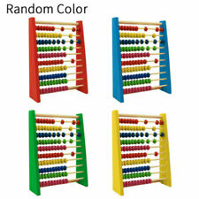 Wooden Bead Abacus Counting Frame Childrens Kids Educational Maths Gift H3Y