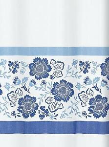 Spirella 10.15518 Duschvorhang Textil Fiorella blau 180 x 200 cm Vorhang Dusche