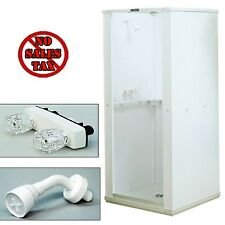 Shower Enclosure Bathroom Shower Stall Kit Standing Bath White Panel 32x32x75 1d
