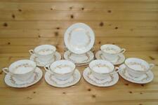 Royal Worcester SAGUENAY (6) Cups & (9) Saucers | Bone China | England