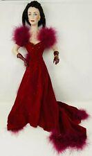 22� Scarlett O'Hara Gwtw Franklin Heirloom Mint Porcelain Doll Red Velvet Dress