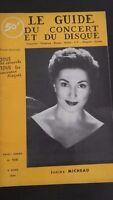 Revista Le Guía de La Concierto Y Disco 1956 N º 105 J.Micheau