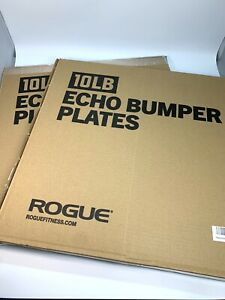 Gym Rogue Fitness Echo Bumper Plates 10lb *Pair* - Black ✅ SHIPS NOW ✅ BRAND NEW