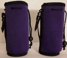 2QTY Insulated Purple Koozie Belt Loop and Clip Hiking 16-20oz New Free Ship