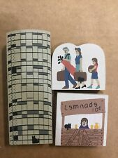 Lot of 3 Cats Meow Pieces - Silo, Lemonade Stand, Family on Vacation