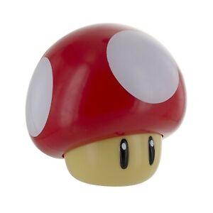 NEW Super Mario Mushroom Light Tabletop Nightlight Nintendo NES Toad w/ Sounds