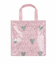 HARRODS LONDON LIMITED EDITION SMALL PINK GLITTER HEART TOTE BAG - LUXURY GIFT