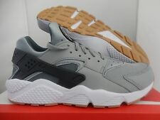 NIKE AIR HUARACHE SHARK-ANTHRACITE-HASTA-WHITE-GUM BROWN SZ 12 [318429-022]
