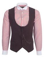 Jack Martin - Burgundy Diagonal Tweed Waistcoat