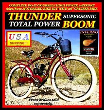 "NEW DIY 2-STROKE 66CC/80CC MOTORIZED BICYCLE KIT WITH 26"" POWER CRUISER BIKE!"