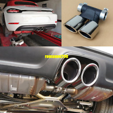 For Porsche Boxster Cayman 718 2017-19 Chrome Rear Exhaust Muffler Tip End Pipe