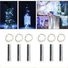 1/6x20 LED Weinflasche Kork Flaschenlicht Lichterkette Beleuchtung Batterie Deko