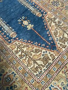 55x40cm Carpet Of Prayer 100% Silk Antique Persian Turkey Knotted Hand