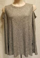 Rachel Rachel Roy Womens Plus Size 3X Gray Cold Shoulder Tunic Pullover Sweater