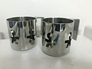 Set of 2 Artistic Alessi Girotondo cups Made In Italy US Seller