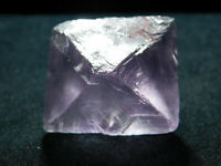 A Larger! Natural and Very Translucent PURPLE FLUORITE Octahedron Crystal 62.5gr