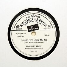 """ROSEMARY BELAN """"This Is Why I Love You"""" (E+) RCA VICTOR VINYL PROMO [78 RPM]"""