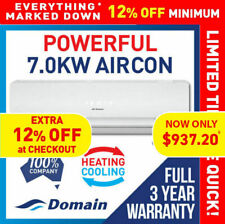 NEW DOMAIN 7.0KW POWERFUL SPLIT SYSTEM REVERSE AIR CONDITIONER COOLING / HEAT
