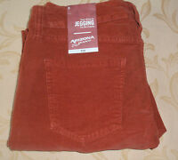 NWT 5 ARIZONA Super Skinny STRETCH CORDUROY LEGGING PANTS JEANS ~ BRICK RED $56